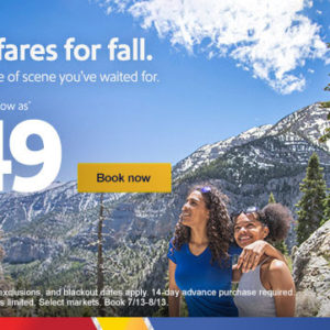 $49 fares for fall. Take a peek.