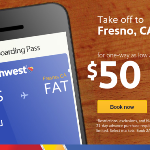 $50 to Fresno, CA is ready when you are