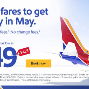 Sale fares to get away in May