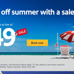 $49 sale to a summer vacay