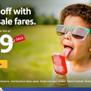 $59 sale fares coming in hot, hot, hot!